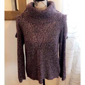 Cold Shoulder Cowl Neck Sweater